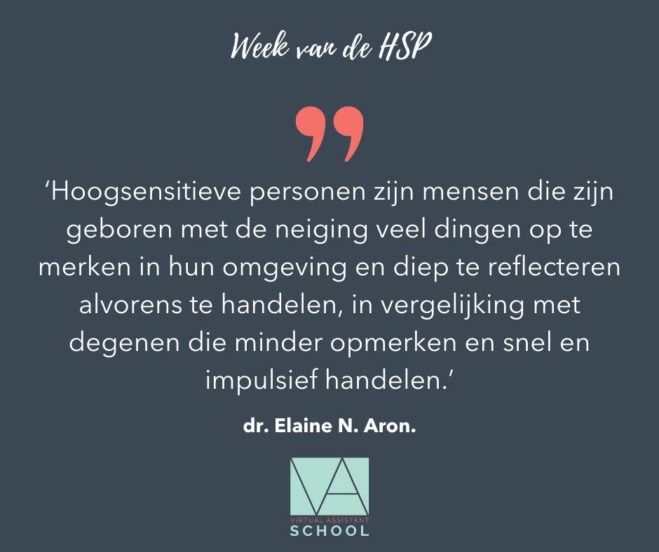 HSP volgens dr. Elaine N. Aron.
